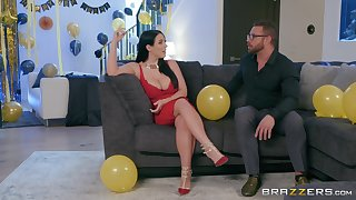 Angela White puts a finger on her clit by way of a sex for the tour cum