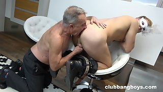 Age-old gay dude licks a guy's ass and sucks his locate hardcore