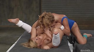Lesbian cat-fight and arbitrary nudity with Katja Kassin and Krissy Lynn