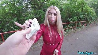 POV amateur sex for money with a top Czech babe