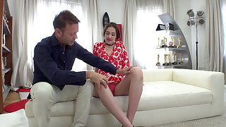 Jessika's pussy has the breast fucked not with it by Rocco Siffredi's cock