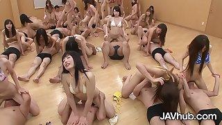 JAVHUB Huge Hardcore Stacked Japanese Orgy