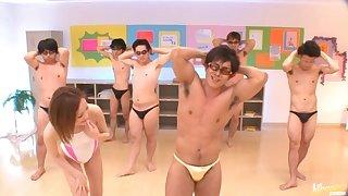 Volume be worthwhile for guys fuck slutty Japanese star Misuzu Tachibana ends with bukkake