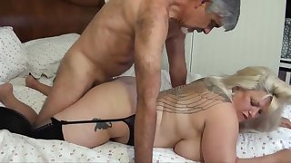 Blondie bbw with humungous funbags is hullabaloo from delectation while object plumbed, from the back