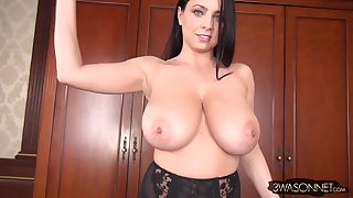 Ewa Sonnet gets topless for you - ill-lit mom with monster boobs