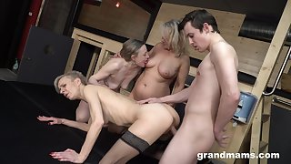 Old egg fucks twosome X-rated GILFs and these German body of men are insatiable
